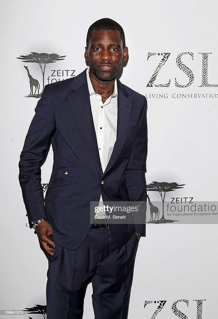 Wretch 32 arrives at the Zeitz Foundation and ZSL Gala at London Zoo on November 22, 2012 in London, England.