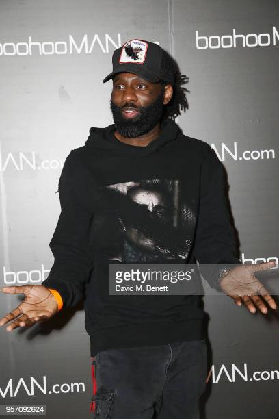 Wretch 32 attends boohooMAN by Dele Alli Launch at Radio Rooftop on May 10 2018 in London England
