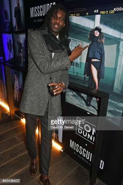 Wretch 32 attends the Lon Dunn Missguided launch event hosted by Jourdan Dunn at The London EDITION on February 17 2017 in London England