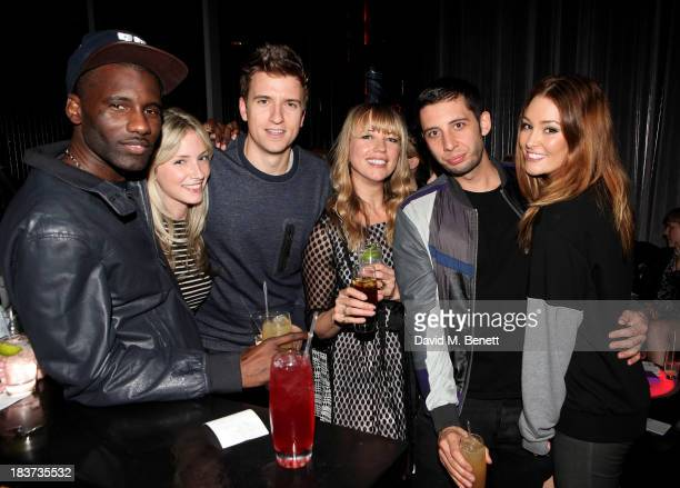 Wretch 32 guest Greg James Sara Cox Example and Erin McNaught attend the launch of The Vinyl Collection curated by Annie Mac and the AMP 2013 album...