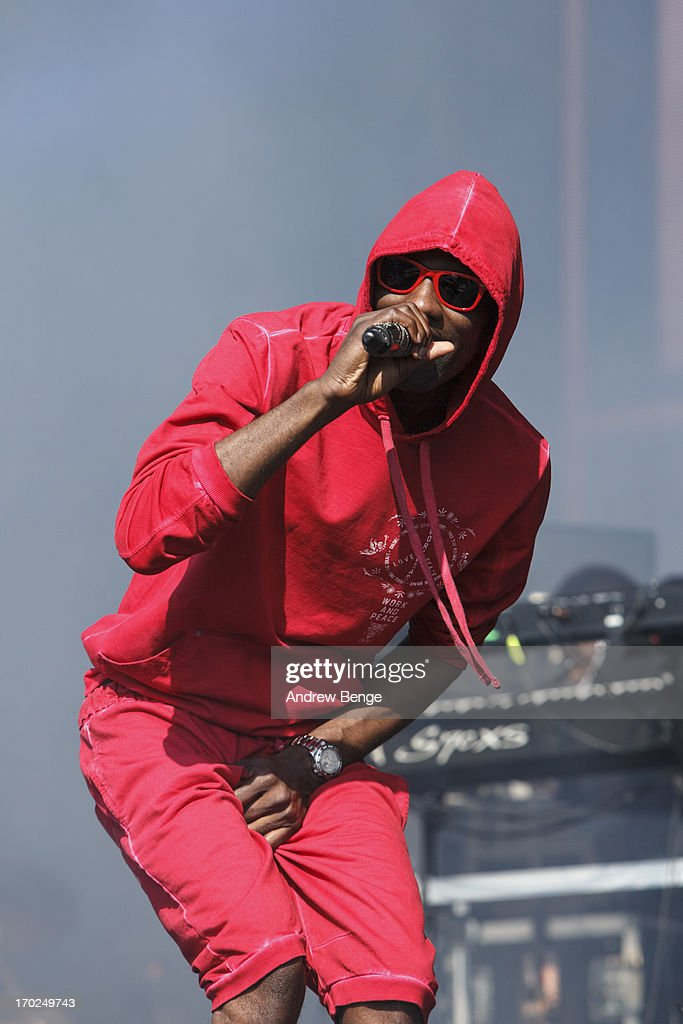 Wretch 32 performs on stage on Day 2 of Park Life Festival 2013 at Heaton Park on June 9, 2013 in Manchester, England.