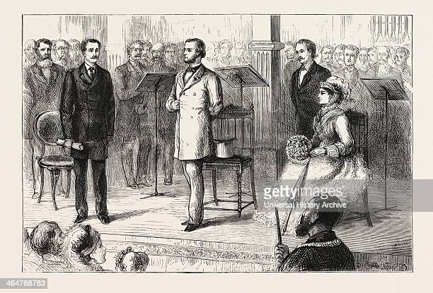 His Grace The Duke Of Westminster Declaring The Building Open Engraving 1876 UK Britain British Europe United Kingdom Great Britain European