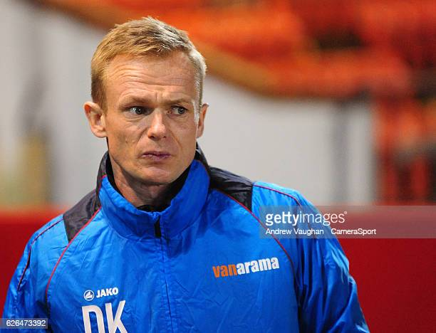 Wrexham manager Dean Keates before the Vanarama National League match between Lincoln City and Wrexham at Sincil Bank Stadium on November 29 2016 in...