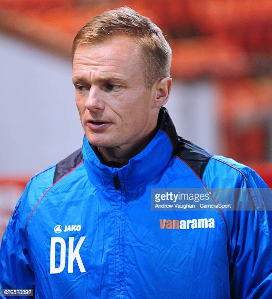 Wrexham manager Dean Keates during the Vanarama National League match between Lincoln City and Wrexham at Sincil Bank Stadium on November 29 2016 in...