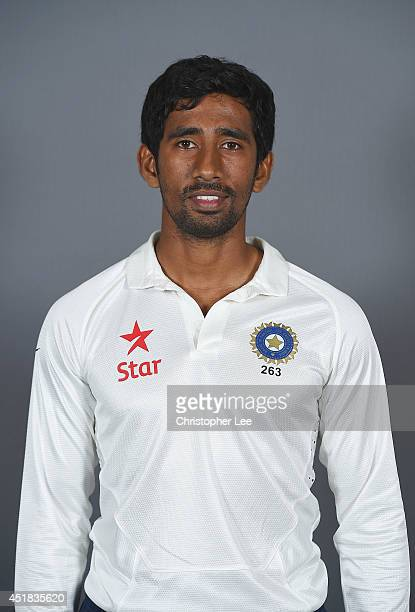 Wriddhiman Saha of India poses on July 7 2014 in NottinghamEngland