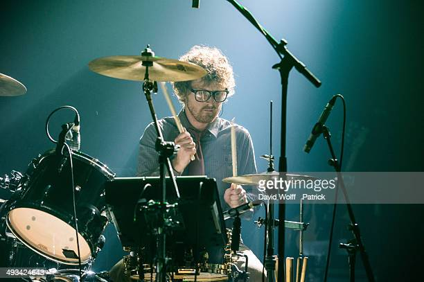 Wrigglesworth from Public Service Broadcasting opens for Manic Street Preachers at Le Bataclan on May 23 2014 in Paris France