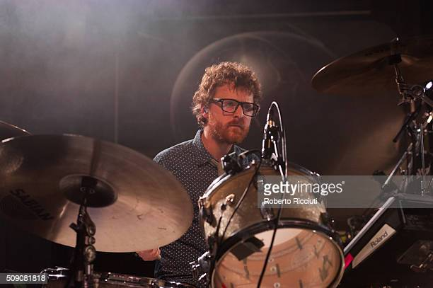 Wrigglesworth of Public Service Broadcasting performs on stage at Queen's Hall on February 8 2016 in Edinburgh Scotland