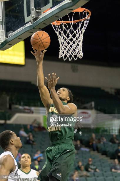 Wright State Raiders F Steven Davis shoots during the first overtime of the men's college basketball game between the Wright State Raiders and...