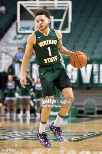 Wright State Raiders G Justin Mitchell with the basketball during the second half of the men's college basketball game between the Wright State...