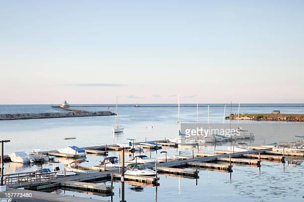 wright's landing marina, oswego, ny - lake ontario stock pictures, royalty-free photos & images