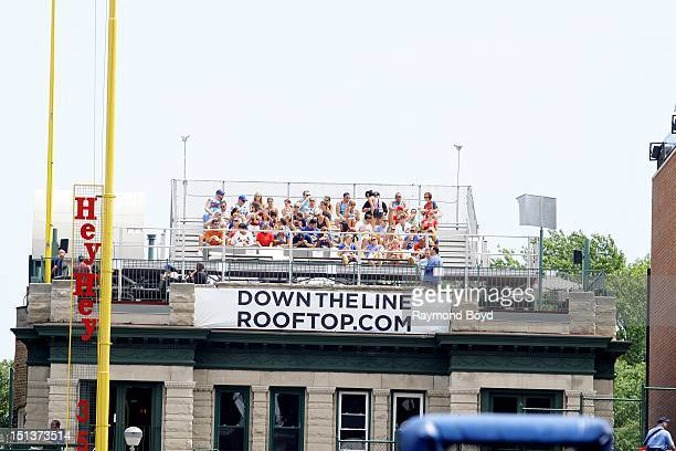 Wrigley Rooftops on Sheffield Avenue in Chicago Illinois on JULY 29