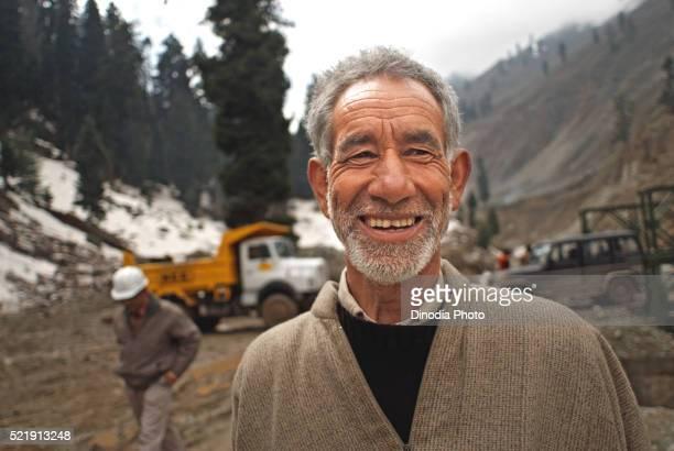 Wrinkle on face of kashmiri man, Jammu and Kashmir, India