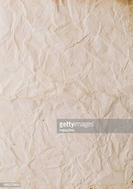 wrinkled paper - parchment stock pictures, royalty-free photos & images