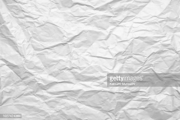wrinkled paper texture background - しわ ストックフォトと画像