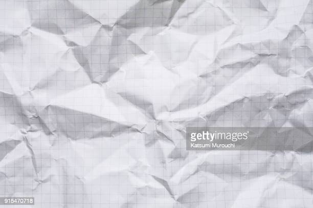 wrinkled paper texture background - checked pattern stock pictures, royalty-free photos & images