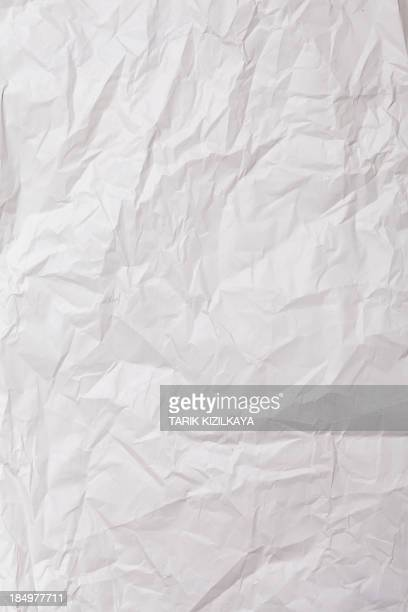 Wrinkled sheet of white paper