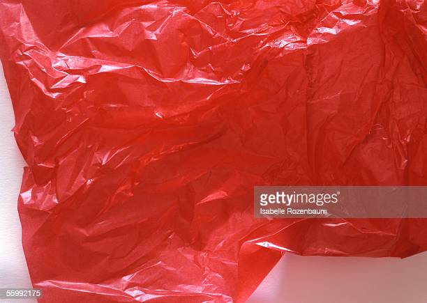 Wrinkled tissue paper, close-up