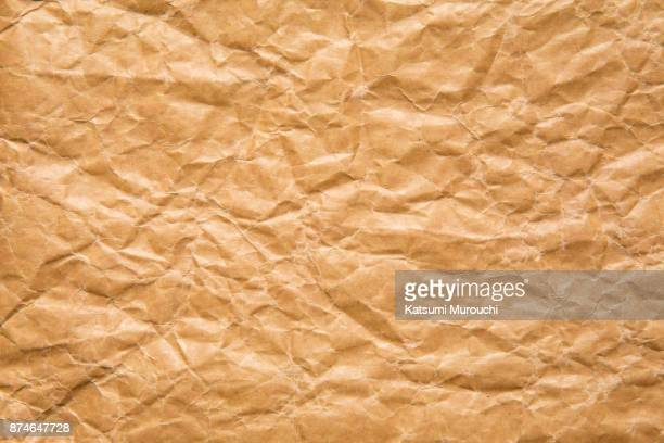Wrinkled wax paper texture background
