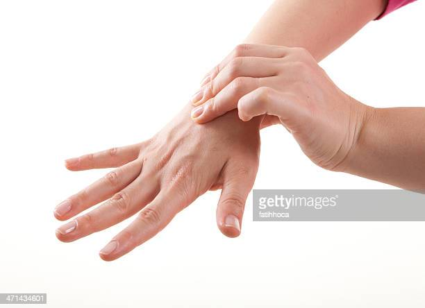 wrist pain - gout stock photos and pictures