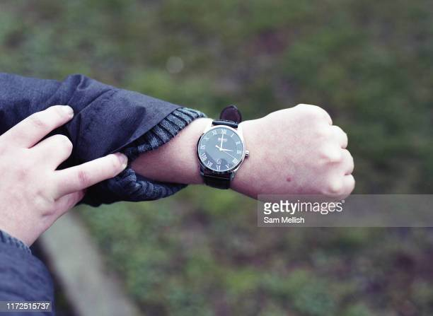 A wrist watch showing 3pm kick off time at Dulwich Hamlet against Chelmsford FC on the 26th January 2019 at Champion Hill in South London in the...
