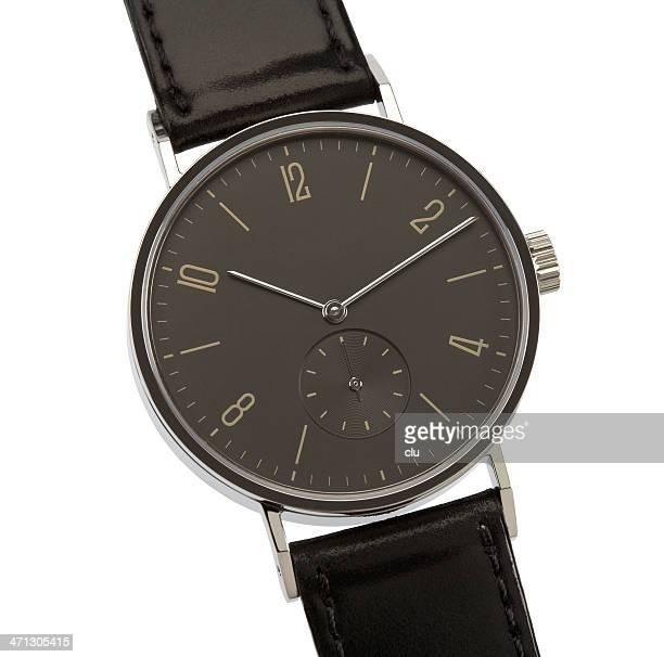 Armbanduhr, isoliert auf weiss Mit clipping path
