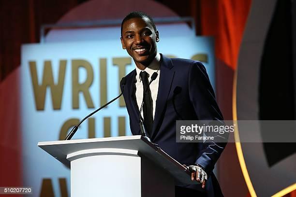 Write/actor Jerrod Carmichael speaks onstage during the 2016 Writers Guild Awards LA Ceremony at the Hyatt Regency Century Plaza on February 13 2016...