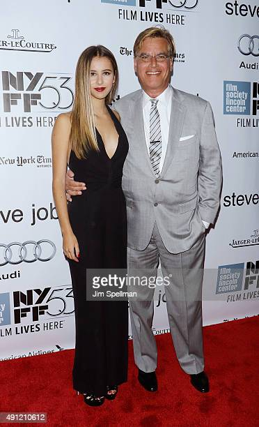 """Writer Aaron Sorkin and Roxy Sorkin attend the 53rd New York film festival - """"Steve Jobs"""" at Alice Tully Hall, Lincoln Center on October 3, 2015 in..."""