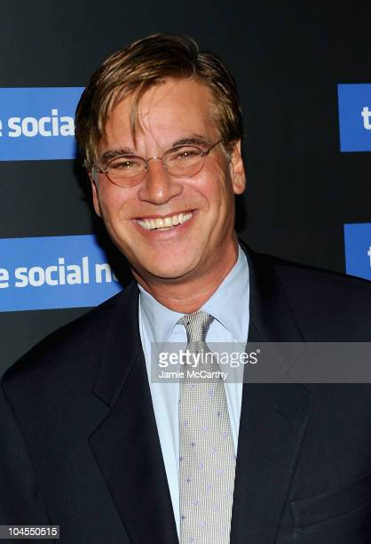 """Writer Aaron Sorkin attends Columbia Pictures' and The Cinema Society's screening of """"The Social Network"""" at the School of Visual Arts Theater on..."""
