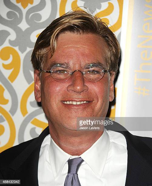 Writer Aaron Sorkin attends the premiere of 'The Newsroom' at DGA Theater on November 4 2014 in Los Angeles California