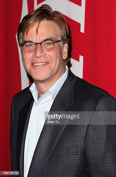 Writer Aaron Sorkin attends Writers Guild of America hosts 'Beyond Words 2012' screenwriter panel at Writers Guild Theater on February 16 2012 in...