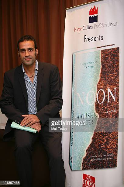 Writer Aatish Taseer at the launch of his new book 'Noon' published by HarperCollins India