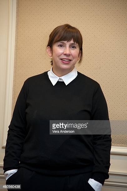 Writer Abi Morgan at the 'Suffragette' Press Conference at the Waldorf Astoria Hotel on October 12 2015 in New York City