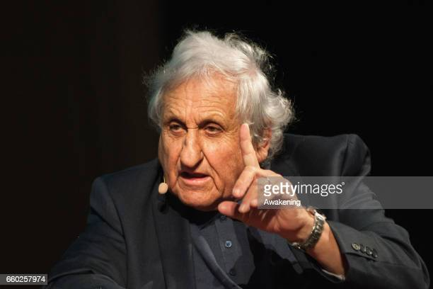 Writer Abraham B. Yehoshua attends the opening ceremony of 'Incroci di Civilta' the Venice Literary Festival on March 29, 2017 in Venice, Italy.