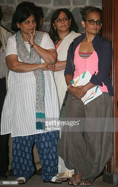 Writer activist Arundhati Roy at the launch of the book We The Children Of India The Preamble To Our Constitution by Author Leila Seth in New Delhi...