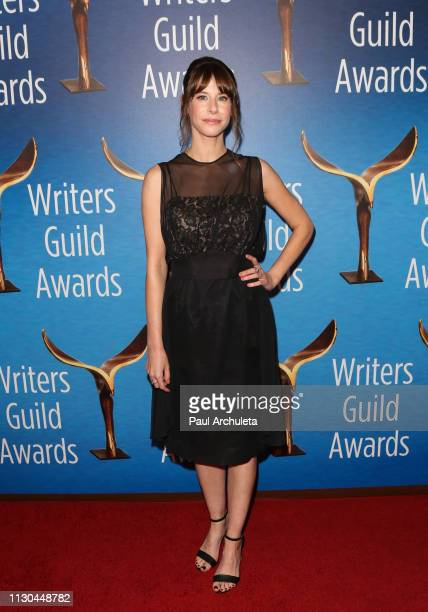 Writer / Actress Megan Neuringer attends the 2019 Writers Guild Awards LA ceremony at The Beverly Hilton Hotel on February 17 2019 in Beverly Hills...
