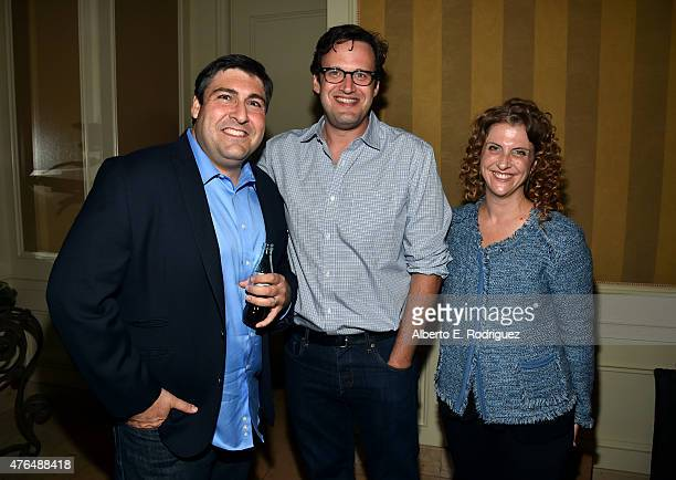 Writer Adam F Goldberg of The Goldbergs Writer Andrew Kresiberg of The Flash and Writer Jennie Snyder Urman of Jane the Virgin attend Variety's A...