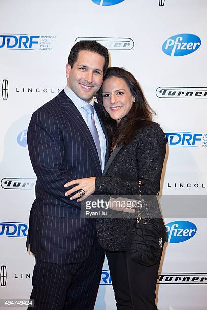 Writer Adam Schefter and wife Sharri Maio attend the JDRF 43rd Annual Promise Ball at Cipriani Wall Street on October 28 2015 in New York City