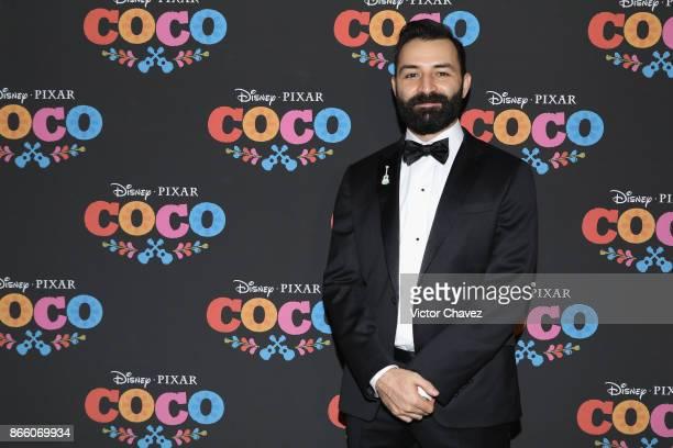 Writer Adrian Molina attends the 'Coco' Mexico City premiere at Palacio de Bellas Artes on October 24 2017 in Mexico City Mexico