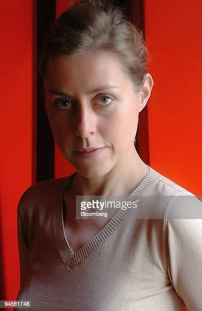 Writer Agnes Catherine Poirier poses in Paris France Friday November 17 2006 After more than a decade in London Poirier sums up her impressions in...