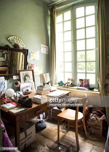 Writer Agnes Desarthe is photographed for Paris Match at home in Etretat in Normandy on September 18 2018