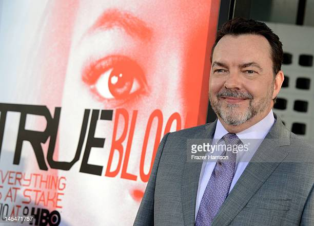 """Writer Alan Ball arrives at the Premiere of HBO's """"True Blood"""" 5th Season at ArcLight Cinemas Cinerama Dome on May 30, 2012 in Hollywood, California."""