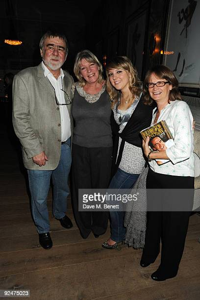Writer Alan Bleasdale actress Diana Weston and guests attend Robert Lindsay's book launch for 'Letting Go' at the Haymarket Hotel on October 28 2009...