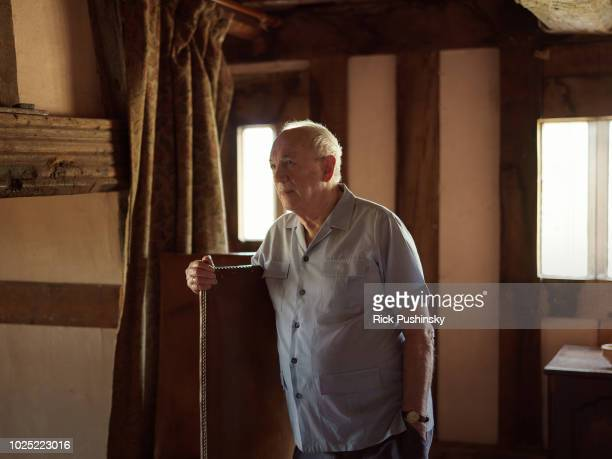 Writer Alan Garner is photographed for the Financial Times on July 9 in Blackden England