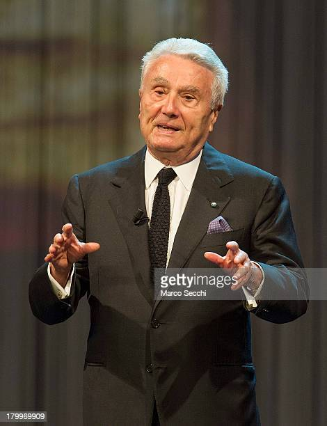 Writer Alberto Arbasino during the Premio Campiello 2013 at La Fenice Theater on September 7 2013 in Venice Italy This year is the 51st edition of...