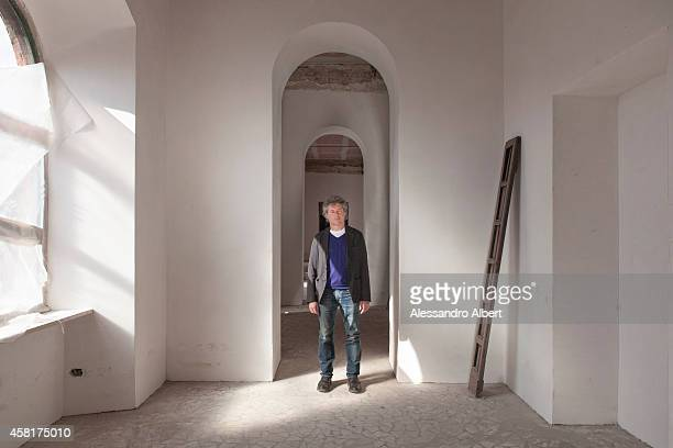 Writer Alessandro Baricco is photographed for Vanity Fair Italy on March 14 2013 in Turin Italy