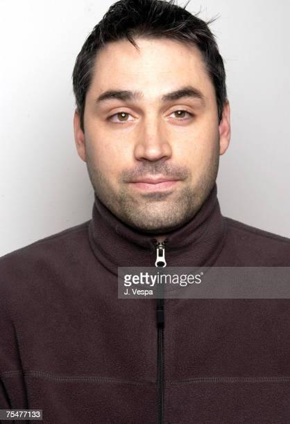 Writer Alex Garland at the WireImage Portrait Studio Michael Perez Pop Art Gallery in New York City New York