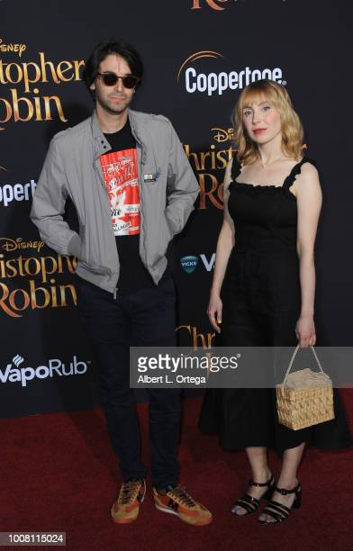 Writer Alex Ross Perry and Anna BakKvapil arrive for the Premiere Of Disney's 'Christopher Robin' held at Walt Disney Studios on July 30 2018 in...