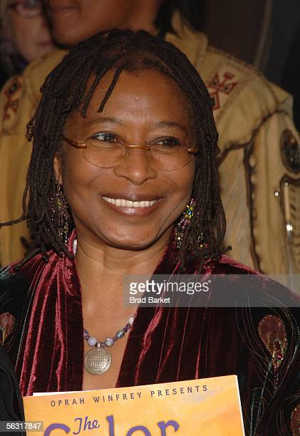 Writer Alice Walker attends the opening of 'The Color Purple' at the Broadway Theatre December 1 2005 in New York City