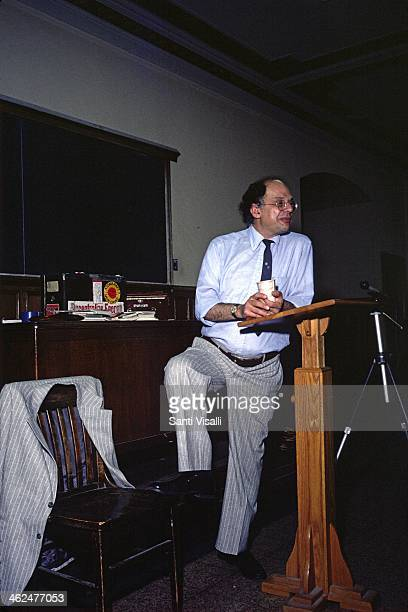 Writer Allen Ginsberg on October 10 1980 in New York New York