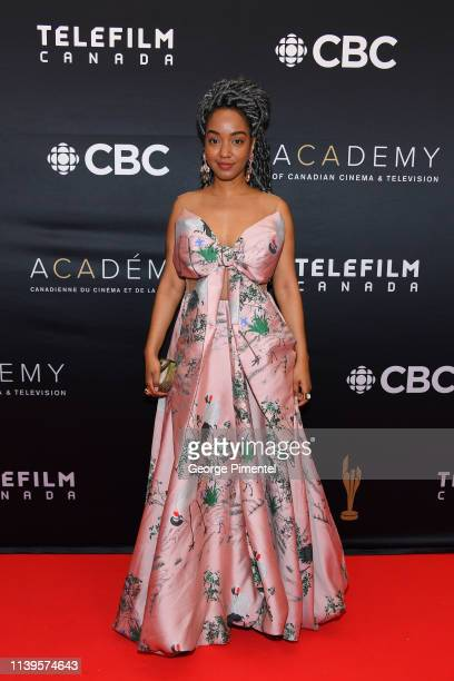 Writer Amanda Parris attends the 2019 Canadian Screen Awards Broadcast Gala at Sony Centre for the Performing Arts on March 31 2019 in Toronto Canada